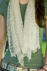 Lacy Single Ply Lambswool Scarf